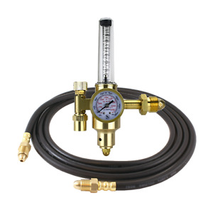 Argon Co2 Tig Mig Flowmeter Welding Regulator With 10 Feet Argon Hose Hdv