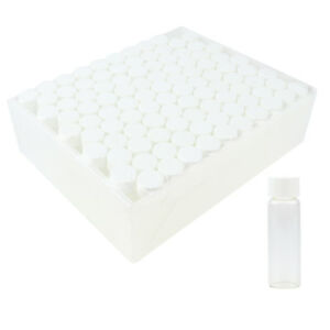 10 15 20ml Glass Sample Storage Bottles Cosmetic Container Vials Screw On Caps