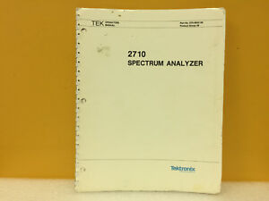 Tektronix 070 6022 00 2710 Spectrum Analyzer Operators Manual