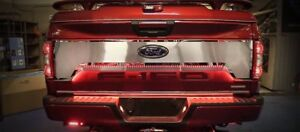 Tailgate Cover Brushed W Polished Trim Ring 2pc Ford Raptor 15 18 Acc Pn 772098