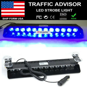 12v 12 Led Strobe Flash Light Car Dashboard Visor Emergency Warning Lamp