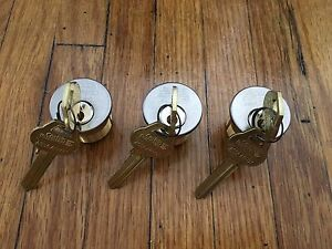 Corbin Russwin Mortise Lock Cylinders With Blank Keys 3 Cylinders