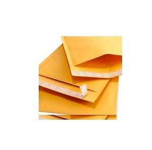 Qty 125 Small Size 000 5x8 Kraft Bubble Padded Envelopes 4 5x7 Usable Space