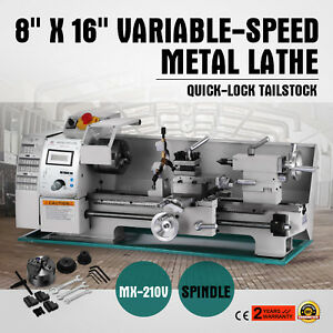 8 X 16 variable speed Mini Metal Lathe Steady Rest Woodworking Wear resistant