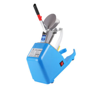 Electric Snow Cone Machine Ice Shaver Crusher Maker Home Commercial Blue
