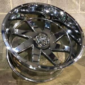 4 New 22x12 Chrome Hardcore Hc08 Brut Wheels 6x5 5 44 Chevy Gmc 1500 6x139 7