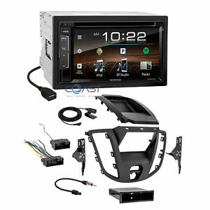 Kenwood 2018 Dvd Sirius Stereo 2 Din Dash Kit Harness For 2015 16 Ford Transit