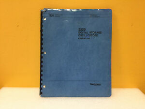 Tektronix 070 5301 01 2220 Digital Storage Oscilloscope Operators Manual
