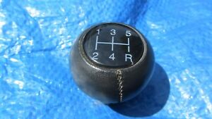 87 94 Saab 900 Oem Spg Convertible Hatchback Leather Shift Knob Shifter Rare