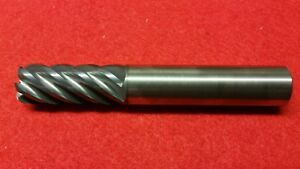 5 8 Tialn Carbide 1 8 Radius High Performance End Mill 6 Flute Endmill Usa