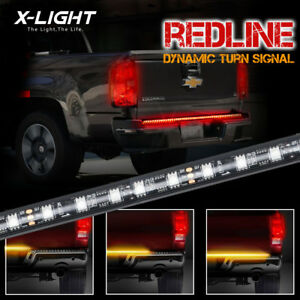 60 Triple Core Led Truck Tailgate Side Bed Light Bar Strip Sequential Amber Turn