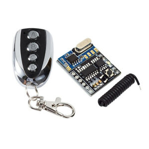 Dc 5v 4 Channels Rf Relay Wireless Remote Control Light Switch Receiver
