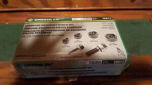 Greenlee 735bb Knock Out Punch Set Nice New In Sealed Package Nip
