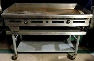 Imperial Comm Griddle Controlled Heavy Duty 48 Plate Nat Gas Model Itg 48