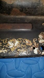Antique 1910 Singer Treadle Sewing Machine Model 27 Egyptian Sphinx