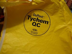 Lot Of 12 Dupoint Tychem Q c Thermo Pro Liquid Splash Protective Coveralls Lg