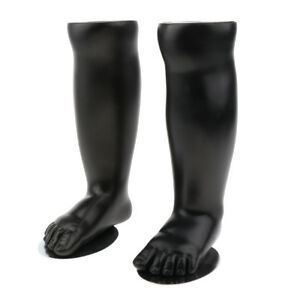 Set Of Left Right Baby Foot Mannequin Black For Socks Shoes Display