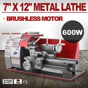 Brushless Motor Mini Metal Lathe Woodworking Tool Cutter Motorized Bench Top