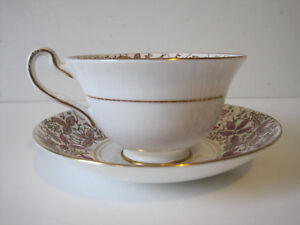 Vintage Rosina Tea Cup And Saucer Bone China Gilding Made In England