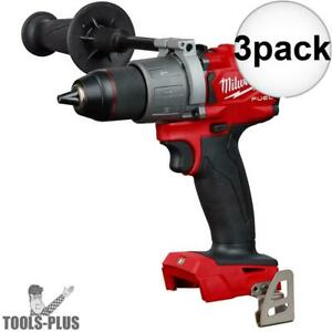 Milwaukee 2804 20 M18 Fuel 1 2 Hammer Drill driver tool Only 3x New