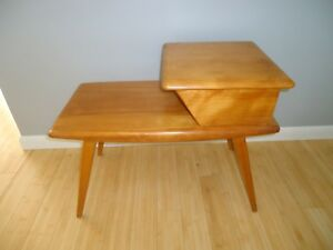 Midcentury Modern Heywood Wakefield End Table Champagne