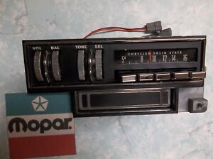 Mopar Am Radio With 8 Track 2884610 Works 70 Challenger Barracuda