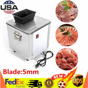 Commercial Meat Slicing Shredding Cutting Machine Meat Cutter Slicers 5mm New Us