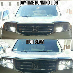 6x Led High Low Beam Headlight Drl Switchback Signal Bulbs For 2009 2015 Pilot