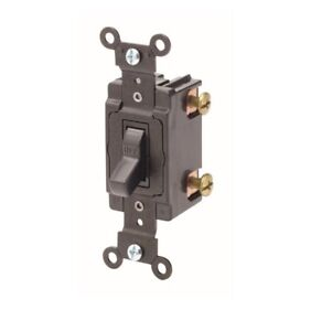 Leviton Ms602 bw 60 Amp Double pole Motor Starter Switch Only Back Wired Black
