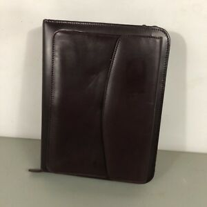 Franklin Covey Quest Burgundy Leather Planner Binder With Pockets