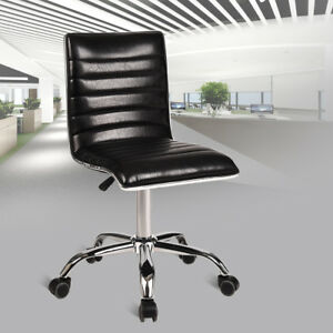 High Back Office Chair Executive Pu Leather Adjustable Swivel Task Computer Seat