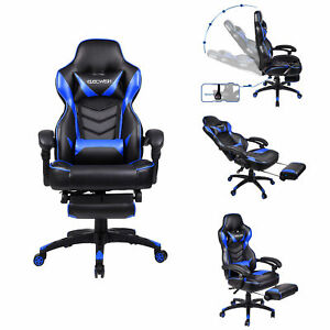 Computer Racing Gaming Chair Adjustable High Back Ergonomic Recliner Office Desk