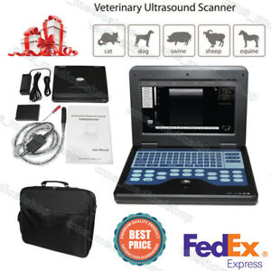 Vet Veterinary Ultrasound Scanner Machine With Rectal Probe horses sheep dog Use