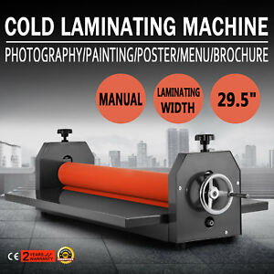 29 5in Cold Laminator Manual Roll Laminator Vinyl Photo Film Laminating Machine