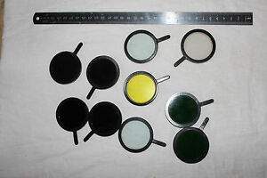 Lomo Microscope Set Of Filters D 40mm Mikroskop Glass Filters