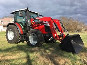 2017 Massey Ferguson 4707 Tractor Loader Cab 4wd Loaded Opt Only 54 Hrs Warranty