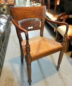 English Anglo Indian Teak Arm Chair