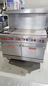 Vulcan Electric Range Double Oven With 2 French Plates And 47 Griddle E48xl 8