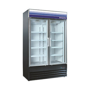 Norpole Reach in Swing Glass 2 Door Freezer Npgf2 sb