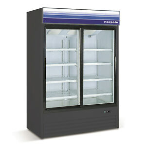 Norpole Reach in Slide Glass 2 Door Freezer Npgr2 b