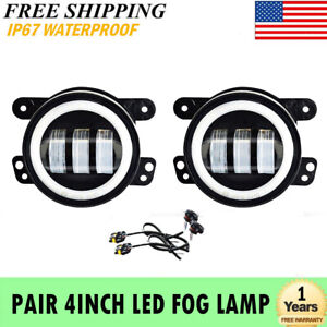 Pair 4 Inch 30w Led Fog Lights Driving Lamps For Dodge Journey Magnum