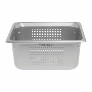Vollrath Super Pan 3 1 2 Size Stainless Steel Perforated Steam Table Pan 6 d