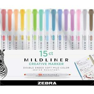 Mildliner Double Ended Highlighter Broad And Fine Tips Assorted Colors
