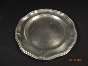 Antique American Pewter Charger Plate Konigsberg 9