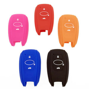 1x Silicone Key Fob Cover Shell Case For Subaru Outback Legacy Forester Brz Xv