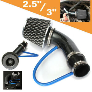 Universal Auto Cold Air Intake Filter Alumimum Induction Kit Pipe Hose System F