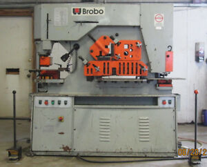 Used Brobo 90 Ton Hydraulic Iron Worker Knotcher Shear Punch