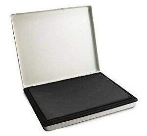 Extra Large 7 X 11 Industrial Rubber Stamp Ink Pad In Metal Case black