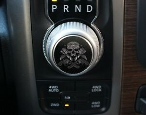 Ram Shift Nob Decal Skull
