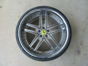 4 Used 22 Inch Forgiato Ferrari Style Wheels With 4 Used Pirelli Tires